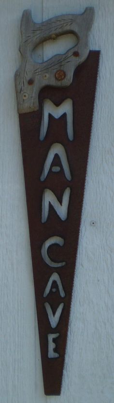 RUSTIC Handsaw MAN CAVE Sign  Upcycled Handsaw  Wall by MDyke, $29.95