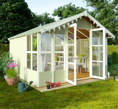 BillyOh 20 x 10 Lucia Tongue and Groove Garden Summerhouse 4000 Range Summer Houses Uk, Large Summer House, Corner Summer House, Summer House Garden, House Front Wall Design, House Main Gates Design, Minecraft Houses Blueprints, House Blueprints, House Awnings