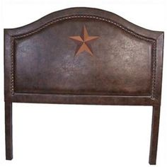 HiEnd Accents Faux Leather Western Star Headboard Queen @ Delectably-Yours.com  #DelectablyYours Western Home Decor