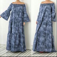 Wow wow wow Amazing SS16 denim maxi,boho dress!  La la la lovely piece!