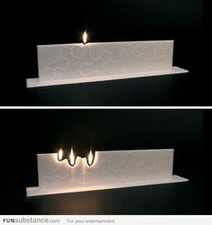 Imagine how this candle works