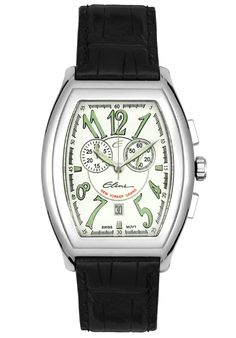 Price:$249.99 #watches Elini WH12535ABK, The Elini brand create a modern and urban look in premiun grade stainless steel case and a fashionable leather strap, this Elini chronograph timepiece is a vogue addition to your wardrobe.