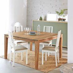 Table carrée en bois de TECK RECYCLE 140cm BOIS DESSUS BOIS DESSOUS : prix, avis & notation, livraison.  Conçue en teck recyclé, cette table à dîner carrée est moderne et pratique. Conviviale, avec ses larges dimensions , elle peut recevoir jusqu'à 8 personnes pour de grandes tablées. Ce meuble en teck recyclé est fabriquée à la main, de façon artisanale pour faire de chaque...
