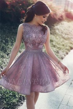 Lace appliques open back sexy cheap homecoming dresses 2017 short hoco dresses online_new in hom . Backless Homecoming Dresses, Prom Dresses 2017, Ball Dresses, Ball Gowns, Graduation Dresses, Prom Gowns, Dress Prom, Formal Dress, Party Dresses