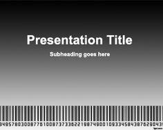 Scanning Bar Code PowerPoint Template
