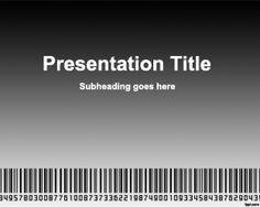Scanning barcode PowerPoint template background for PowerPoint presentations