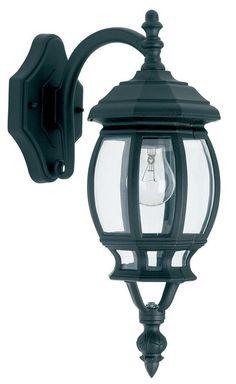 YG-0921 Outdoor American Style Lantern In Matt Black from Lights 4 Living
