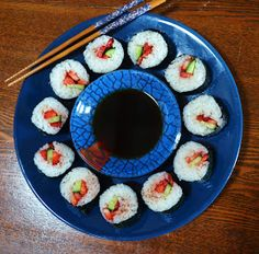 Gormandize: Balsamic Strawberry and Cucumber Sushi Rolls