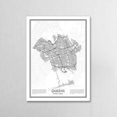 The Bronx New York City Map Minimalist City Maps The Bronx Poster - New york city map wall art