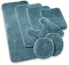Bathmats Rugs And Toilet Covers Shabby Chic Decor Cotton - Contour bathroom rugs for bathroom decorating ideas
