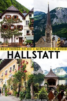 Looking for the best things to do in Hallstatt, Austria? Your complete guide to visiting Austria's most beautiful village and what not to do at Hallstatt! Visit Austria, Austria Travel, Europe Destinations, Europe Travel Tips, European Travel, Travel Guides, Travel Hacks, Holiday Destinations, Germany