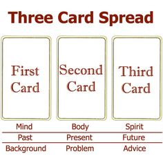 Three Card Spread