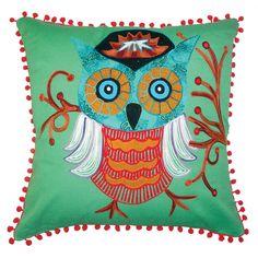 Wise Owl Pillow #owl