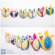 ** Owl pram chain with colors to choose **