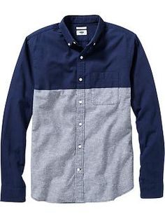 mens-slim-fit-chambray-shirts-blue-colorblock.jpg (JPEG Image, 260 × 345 pixels)