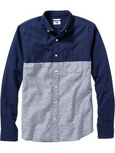 mens-slim-fit-chambray-shirts-blue-colorblock.jpg (JPEG Image, 260 × 345 pixels)