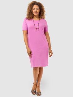 Scoop Back T-shirt Dress In Lilac