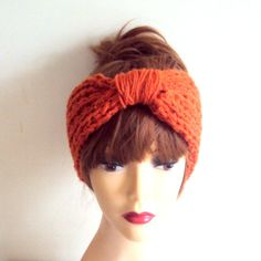 Handmade Turban Headband Chunky Headband Yoga Headband Knit Earwarmer #Handmade #Headbands