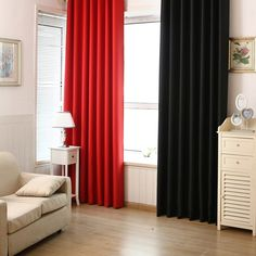 Solid Color Shade Window Kitchen Bathroom Curtain Door Divider Sheer Panel Drapes Scarf Curtain -- BuyinCoins.com