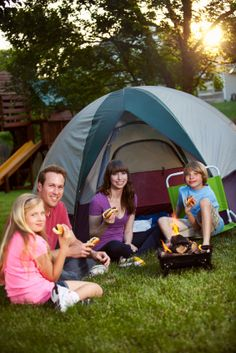 Backyard Camping Ideas -- idk if they're any good because i'm just pinning them right now hahaha