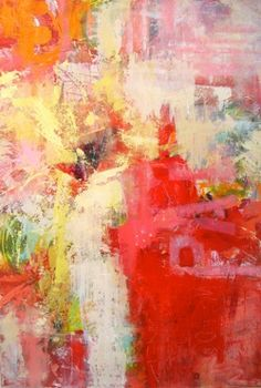 "Abstract - ""Say It With Paint"" - Janet Bothne  pretty colors"