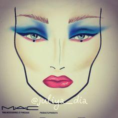 #facechart #mua #makeup #makeupartist #beauty #mac #maccosmetics #макияж #визажист #eyes #fashion #juliya_dia #juliyadia  #macgirl #style #perth #westernaustralia #trend #eyeliner #moscow #russia #vg #vivaglam #makeupaddict #work #Padgram