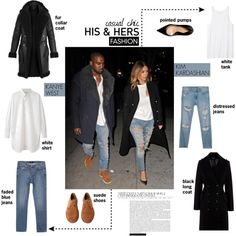 """""""His & Her: Kimye Matching Outfits"""" by putricp on Polyvore"""