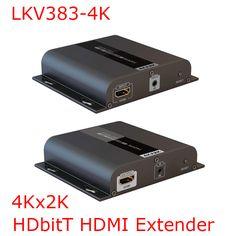 LKV383-4K 4K*2K HDbitT HDMI Extender Up to 120m LAN Repeater over CAT5/5e/6 IR Transmits HDMI V1.4 HDCP 1.4 Sender Receiver