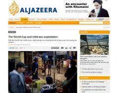Reprodução do portal da emissora Aljazeera