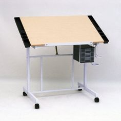 Studio Designs Deluxe Rolling Drafting Table Station - Outfit your workstation with the versatility of the Studio Designs Deluxe Rolling Drafting Table Station . Built on a solid metal frame with your choice. Ups Boxes, Craft Station, Big Desk, Art Supply Stores, Tidy Up, Work Surface, Home Office Desks, Drafting Desk, Drafting Tables