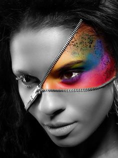 Your true colors are beautiful, in this black and white world...