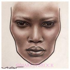 @makeupbrock #facechart