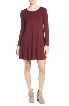 Lush 'Lauren' Long Sleeve Shift Dress available at #Nordstrom