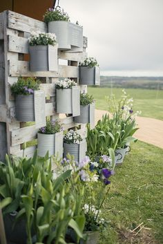Tin Can Flowers Pallet Table Seating Plan Chart Romantic Country Tipi Wedding http://jodiecoolingphotography.com/