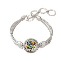 Chunk Snap Metal Bracelet for 1 Snap Includes Shopping Bag Tree Snap