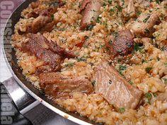 Con sabor a canela: Arroz con costilla Arroz Risotto, Puerto Rican Recipes, Latin Food, Ceviche, Puerto Ricans, Rice Dishes, Rice Recipes, Fried Rice, Pork