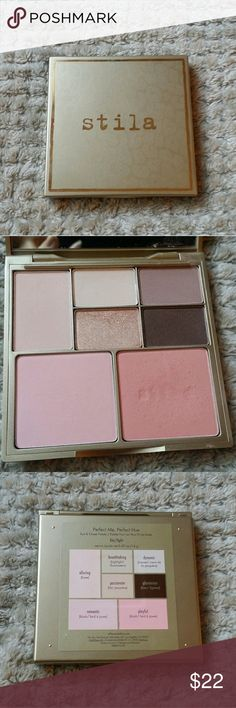 Stila Perfect Me, Perfect Hue Eye & Cheek Palette Stila Perfect Me, Perfect Hue Eye & Cheek Palette Fair/Light. Only one blush shade was used in the palette, othet than that its New without box Stila Makeup Eyeshadow