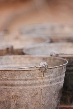 Buckets washing buckets.