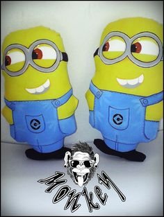 Minions, Fictional Characters, Art, Toss Pillows, Art Background, The Minions, Kunst, Performing Arts, Fantasy Characters