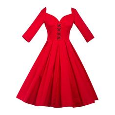 Wholesale Lace-Up Bowknot Vintage Swing Dress Only $10.95 Drop Shipping | TrendsGal.com