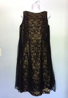 Black and Gold 'Casino Royale' dress