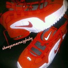 NIKE AIR MAX PENNY 1 UNIVERSITY RED WHITE 685153-600 orlando magic size 6.5Y