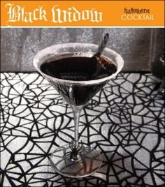 The Black Widow Martini for Halloween drinks party