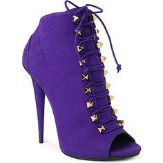 GIUSEPPE ZANOTTI Briana leather ankle boots (Purple
