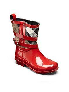 Burberry Little Girl's & Girl's Check Rainboots