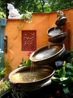 Love the colours in this - Good for a small courtyard garden