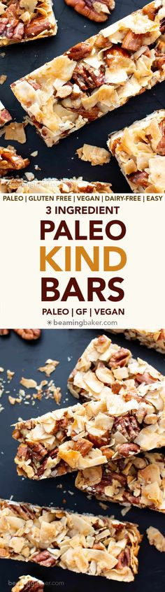Lower Excess Fat Rooster Recipes That Basically Prime 3 Ingredient Paleo Kind Bar Recipe V, Gf: This Vegan Paleo Homemade Kind Bar Recipe Is So Easy With 3 Ingredients Its The Best Way To Learn How To Make Diy Copycat Kind Bars Easy, Healthy, And Prepd In Gluten Free Snacks, Dairy Free Recipes, Paleo Recipes, Baking Recipes, Healthy Snacks, Snack Recipes, Dessert Recipes, Recipes Dinner, Crockpot Recipes
