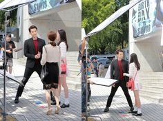 Rain adjusts filming stance for shorter cast members