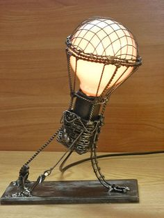 That might actually be kind of easy to make... If any one knows how to make or where to get one please tell me! Steam punk hot air balloon lamp