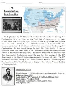 Worksheets Emancipation Proclamation Worksheet 1000 emancipation